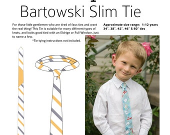 Bartowski Slim Tie PDF Pattern