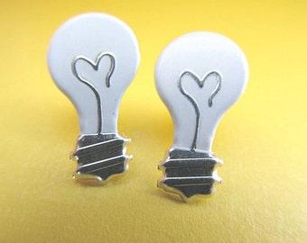 Light Bulb Stud Earrings