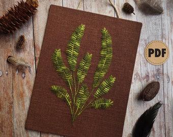 Fern Plant Hand Embroidery Pattern, Plant Pattern, DIY Fall Decor, Plant Lovers Gift, Cabin Decor, Farmhouse Decor, Urban Jungle, Fern Art