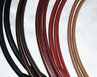 Beautiful leather straps Burgundy for tote bag in 70 cm long