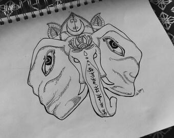 Sanskrit Elephant