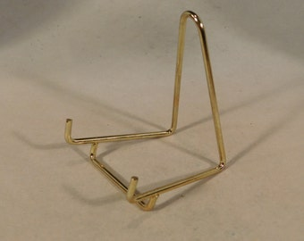A SMALL Brass Easel Display Stand for Plates, Fossils and More!
