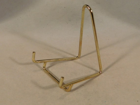 A SMALL Brass Easel Display Stand for Plates Fossils and More! from EarthsAncientArt on Etsy Studio & A SMALL Brass Easel Display Stand for Plates Fossils and More! from ...
