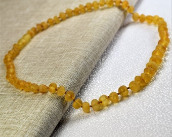 """Amber necklace, Baltic amber, Adult Amber necklace. Raw Genuine Baltic Amber Adult Necklace 18""""  Jewelry for Women."""