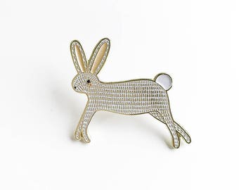 Anstecknadel Hase, Hase Emaille Pin, Emaille Bunny, Kinder Bunny Schmuck, Bunny Revers Brosche, Tier-Pin