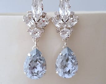 Chandelier earrings etsy dusty blue earringsdusty blue wedding aloadofball Image collections