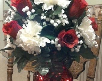 Silk rose arrangement