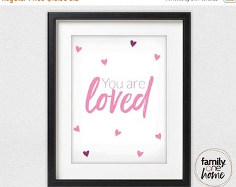 ON SALE You Are Loved (Pink)