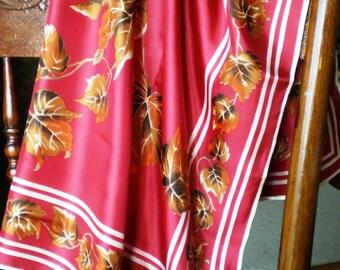 Vintage Scarf - Leaves - Fashion