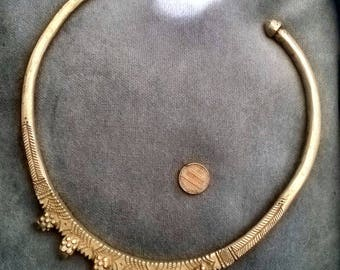 Antique Indian Torc // Choker // White Brass // Slave Collar // WitchKidFinds