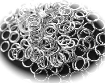50 silver 6mm in diameter and 0.8 mm thick round rings