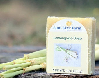 Lemongrass Oil Soap - Lemongrass Soap - Lemongrass Essential Oil Soap - Handcrafted Lemongrass Oil Soap - Artisan Lemongrass Oil Soap