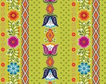 Green Posey Stripe , Juxtaposey by Betz White for Riley Blake