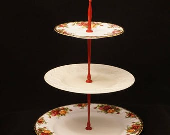 Wedgwood Patrician 3 Tier Stand Royal Albert Old Country Roses Cake Stand Wedding Table Bridal Tea Party Dessert Plate Jewelry Stand