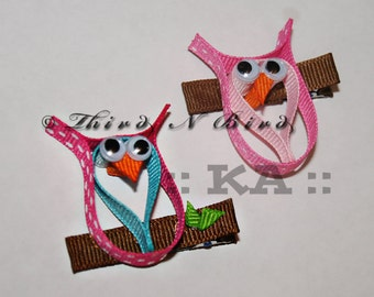 Owl Bird Hair Clip Ribbon Sculpture Instruction Set