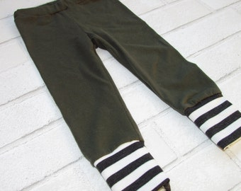 Olive Green Leggings // Harem pants // Baby and Toddler pants