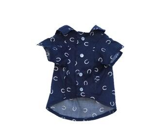 Dog Clothes The Lucky Shirt | Dog Shirt | Dog Apparel | Dog Shirts for Dogs | Pet Clothing | Horseshoe Print