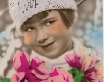 1920s Colorized Photo/Postcard Instant Download Digital Artwork