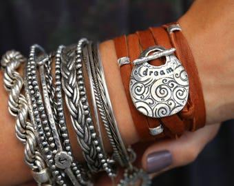 Bohemian Bracelet, Bohemian Leather Wrap Bracelet, Boho Dream Bracelet, Bohemian Jewelry, Boho Jewelry Dream Bracelet, Hippie Wrap Bracelet