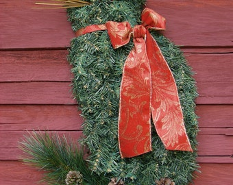 LAST Pre Christmas Sale! The ORIGINAL Cat Wreath Artificial Pine Holiday Home Door Decor Crazy Cat Lady Art by Horse Head Wreath