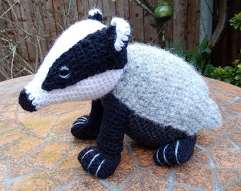 Bradley the Badger - Amigurumi Crochet Pattern