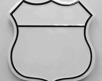 12 Inch Blank US Route Embossed Steel Metal Sign