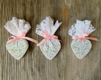Eco Friendly Wedding Favors / Bridal Shower Favor / White Wedding Decor / QTY 50