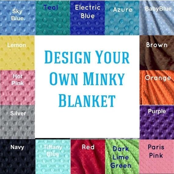 48 x 60 Toddler Blanket, Minky Blanket Boy Girl, Personalized Blanket, Kids Minky Blanket Toddler Bedding, Custom Blanket, Personalized Gift
