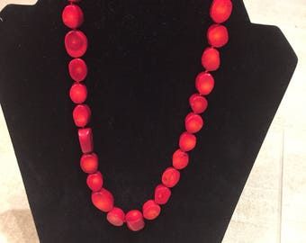 Natural dyed Coral Necklace