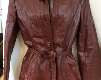 Vintage Wilson Leather Jacket Size Small