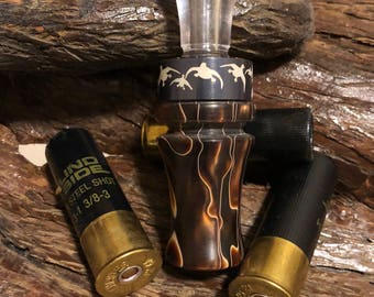 One of a kind custom acrylic double reed duckcall