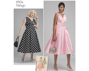 Simplicity Pattern 8592 Misses' and Women's Vintage Dress