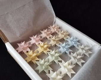 Pastel Moravian Stars for Spring and Easter - Set of 16 - Baby Shower - Wedding
