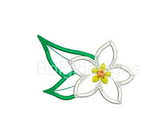 Hawaiian Lei Flower Applique Embroidery Design