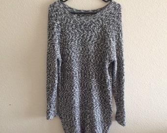 American Eagle heather grey gray body con long sleeve sweater dress work dress - size S