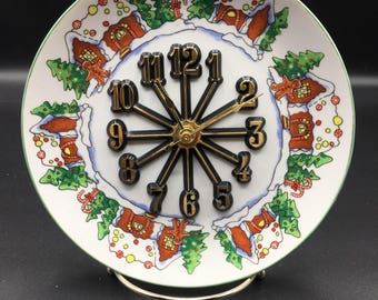 Christmas Gingerbread 7 1/2 Inch Clock Plate !