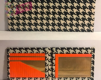 Houndstooth Duct Tape Bifold Wallet