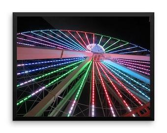 Ferris Wheel at Night Framed Photo