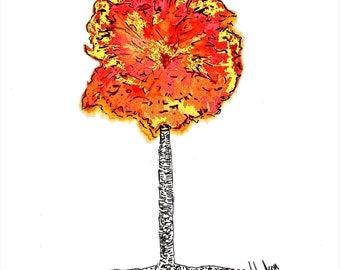 Tree Of Life Watercolor Art Print