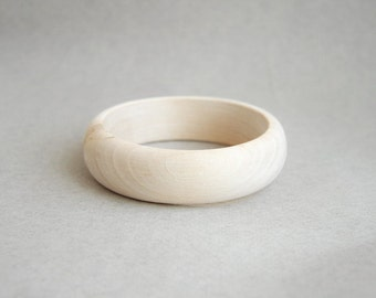20 mm Wooden bracelet unfinished round - natural eco friendly A20