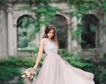 Blush wedding dress etsy pink wedding dress blush wedding dress colored wedding dress tulle wedding dress junglespirit Choice Image