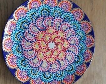 Rainbow dot plate