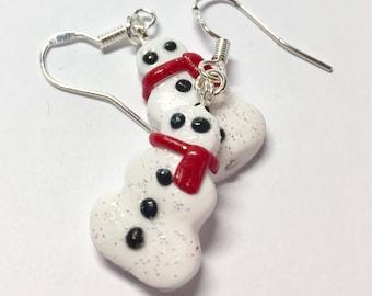 Snow snowman earrings