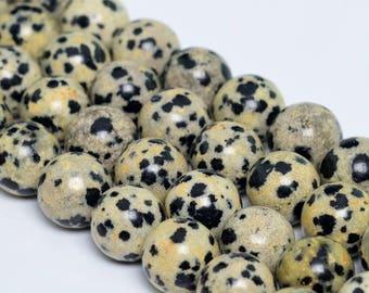 "10MM Dalmation Jasper Natural Gemstone Full Strand Round Loose Beads 15"" (101190-346)"