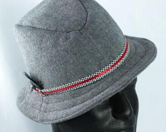 Mens Wool Fedora Hat | Stingy Brim Retro 1950s Hat in Black or Gray | Mens Dress Hat | Gentlemens Winter Hat | Blues Brothers Mad Men Hat