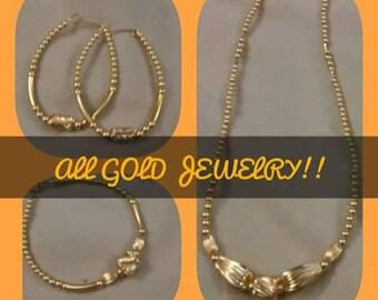 All Gold Bell Set (3) Piece Set