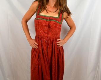 Vintage 1960s 60s Amazing Oktoberfest Dirndl Dress