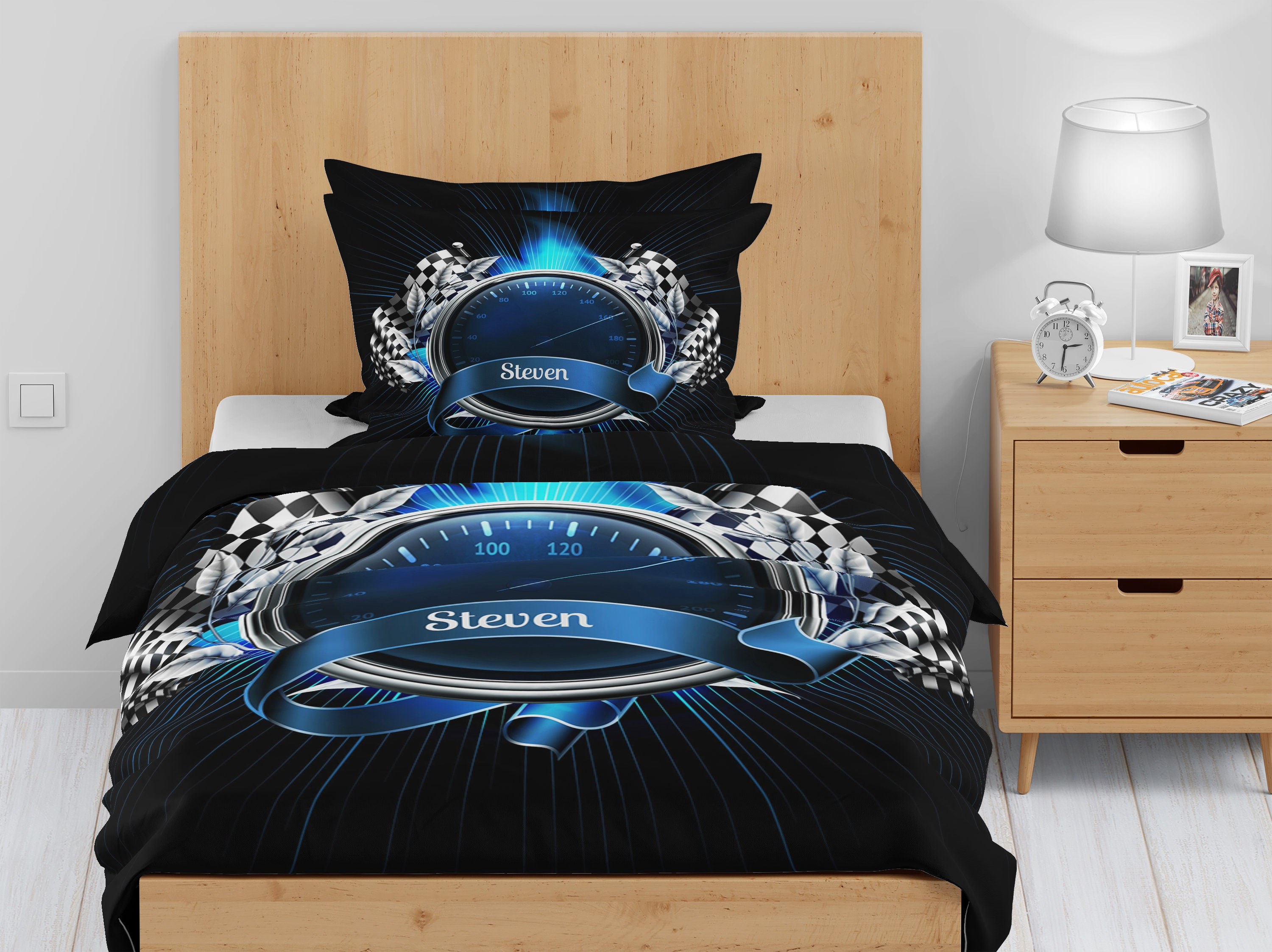 Race Car, Personalized, Bedding, Customer Comforters