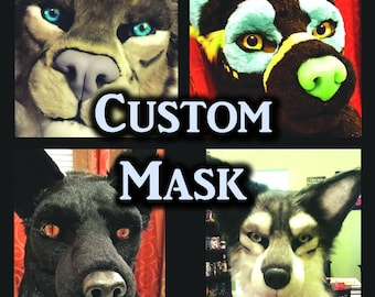 Custom Fursuit Mask. Payment Plans Available! Bring Your Fursona to Life!  Moving Jaw.