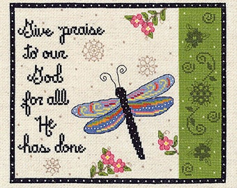 "Janlynn ""Give Praise"" Counted Cross-Stitch Kit"